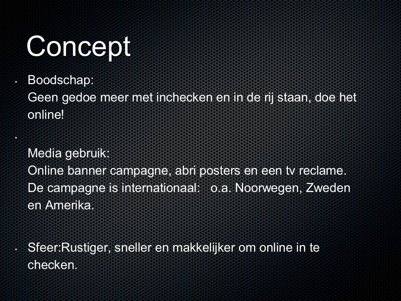Concept Boodschap: Geen gedoe meer met inchecken en in de rij staan, doe het online!