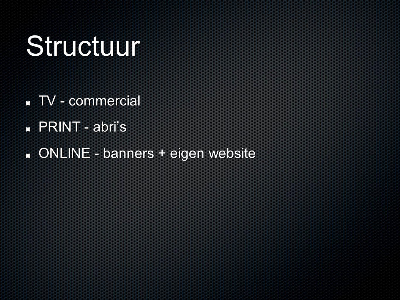 Structuur TV - commercial PRINT - abri's
