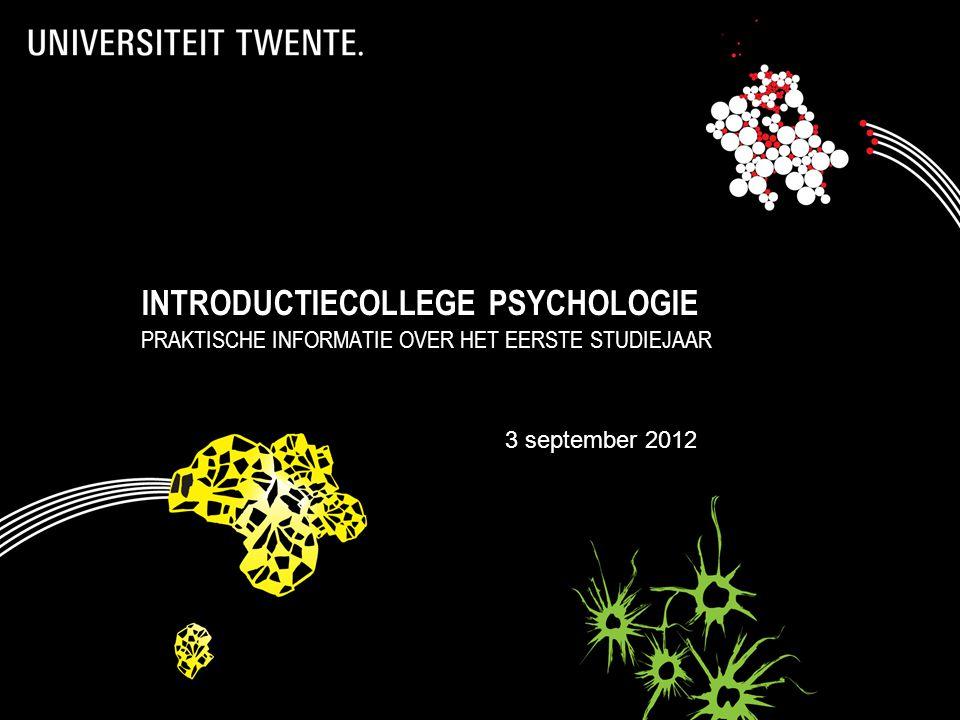 INTRODUCTIECOLLEGE PSYCHOLOGIE