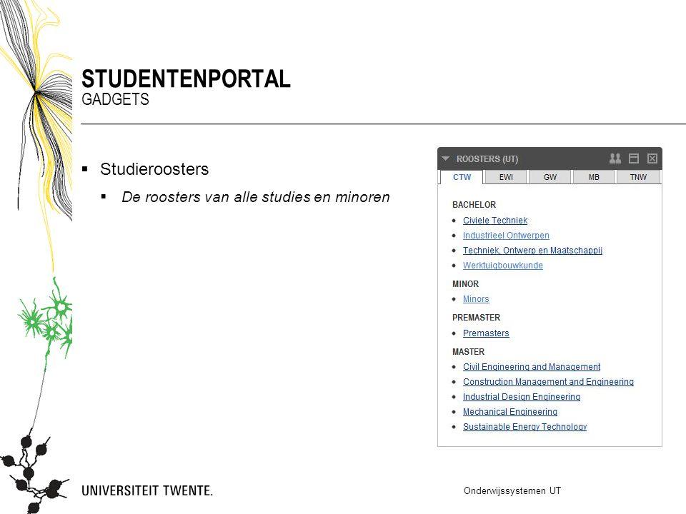 Studentenportal Gadgets Studieroosters