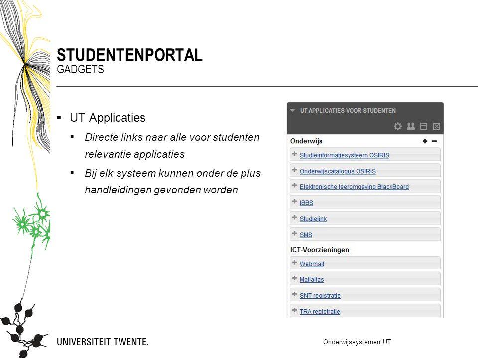 Studentenportal Gadgets UT Applicaties