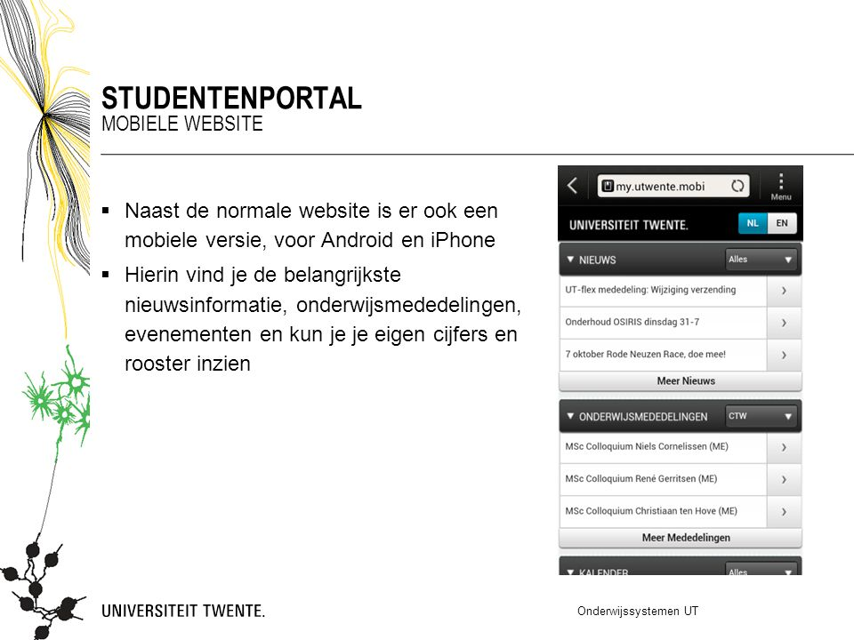 Studentenportal Mobiele website