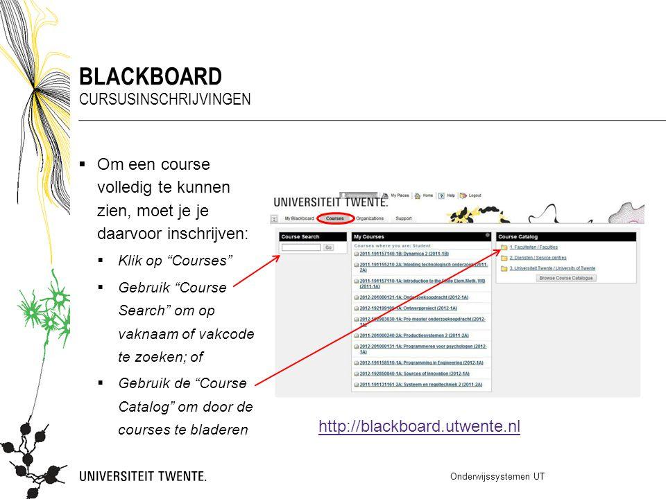 blackboard Cursusinschrijvingen