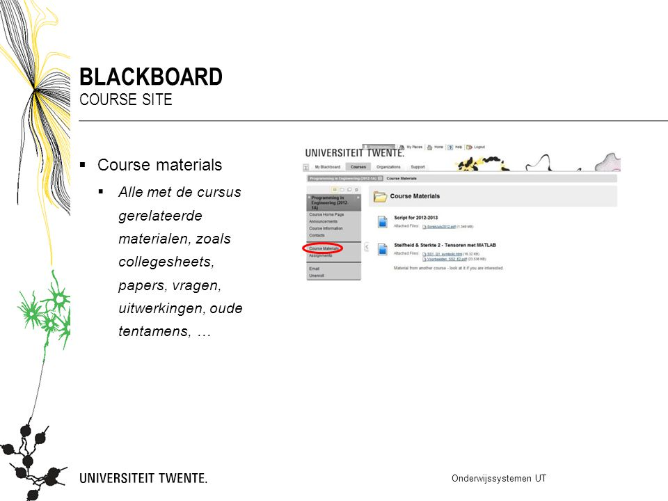 blackboard Course site Course materials