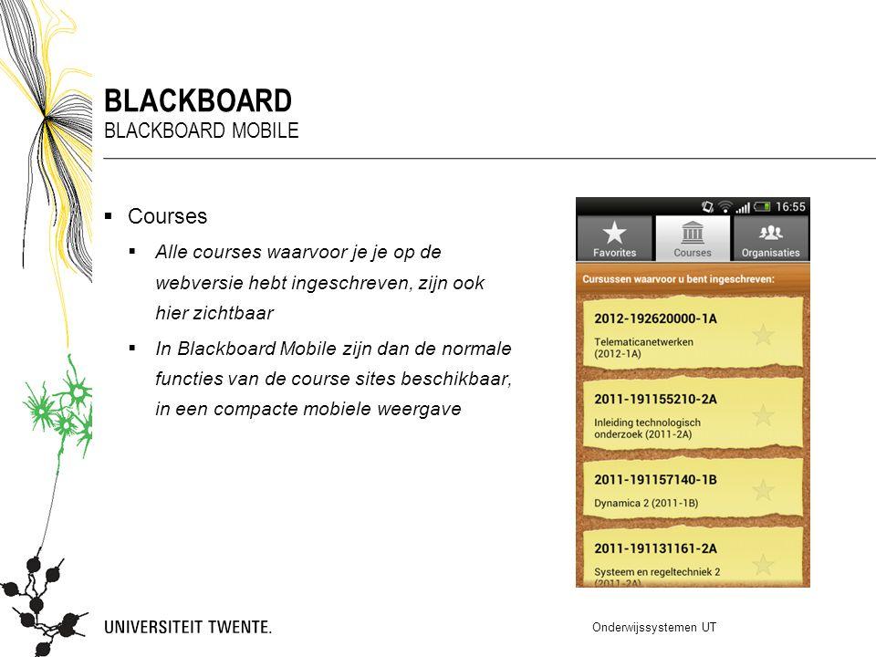 Blackboard Blackboard mobile Courses