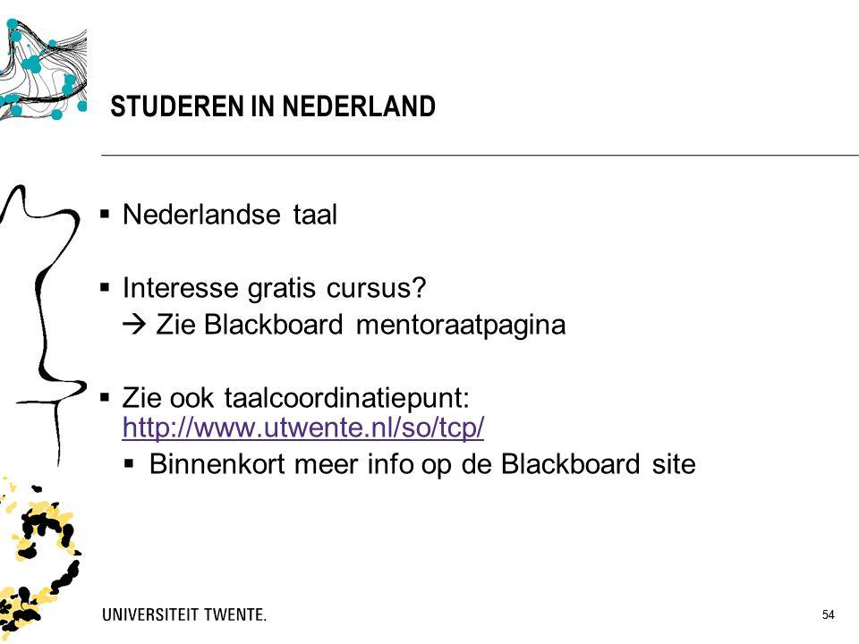 STUDEREN IN NEDERLAND Nederlandse taal Interesse gratis cursus