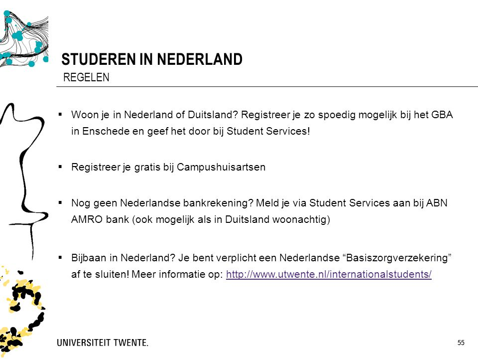 STUDEREN IN NEDERLAND REGELEN