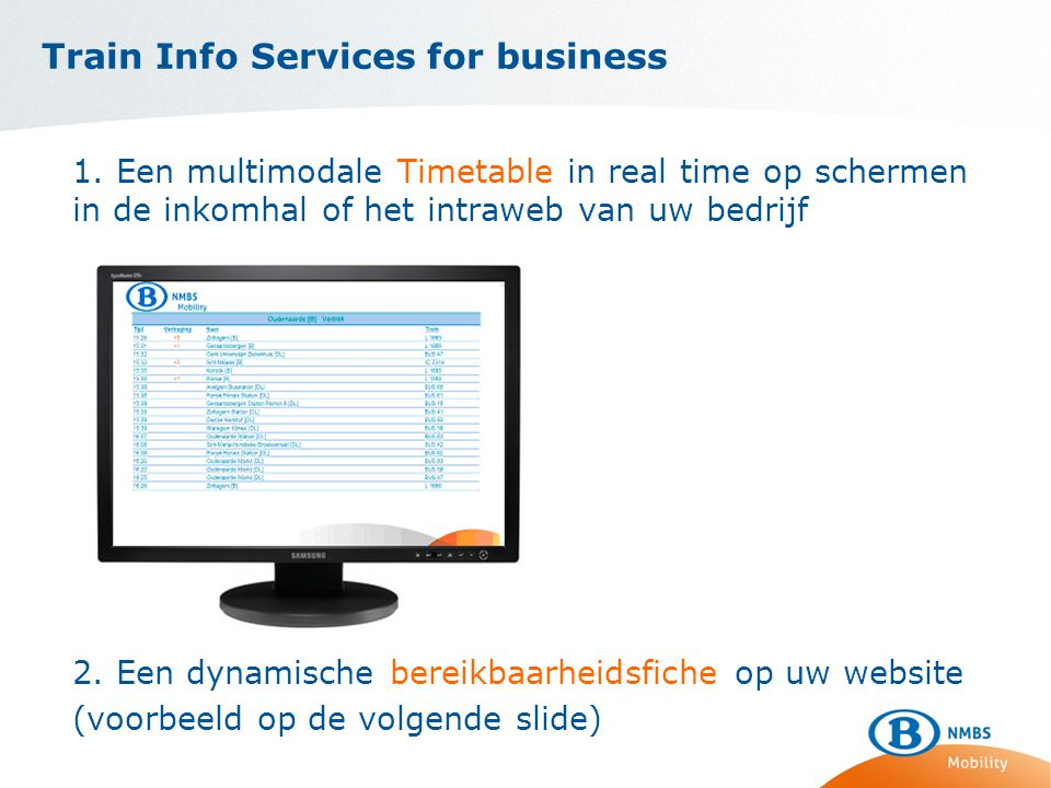 Train Info Services for business