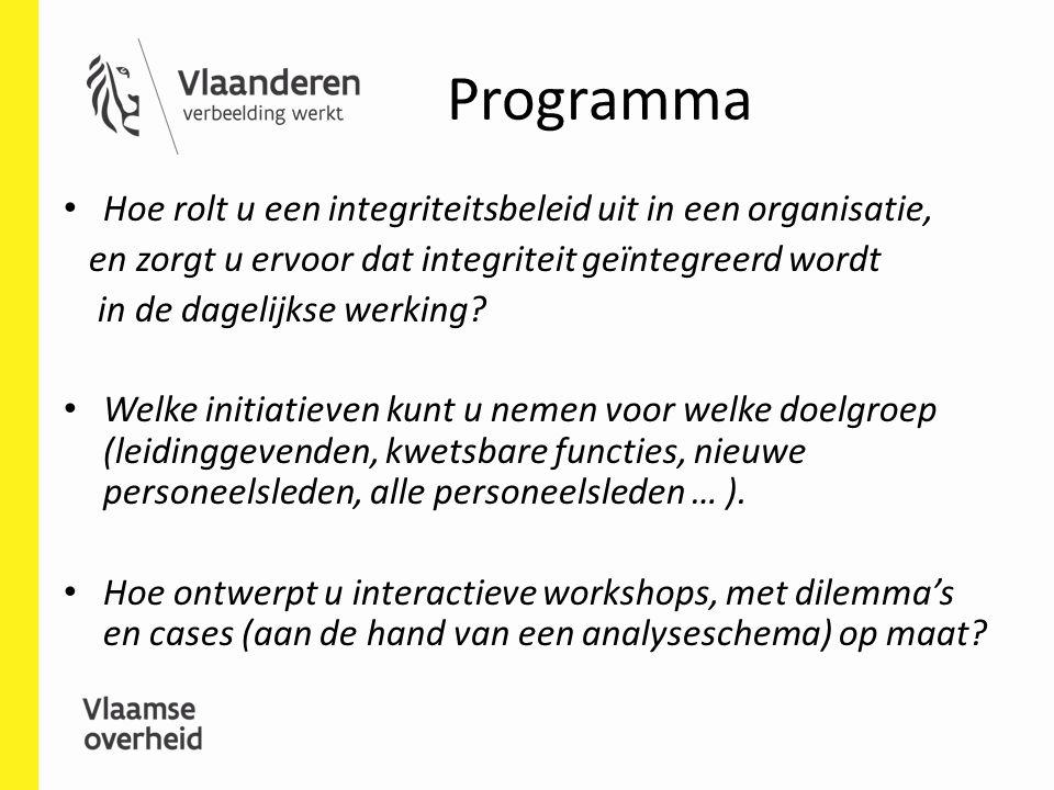 Programma Hoe rolt u een integriteitsbeleid uit in een organisatie,