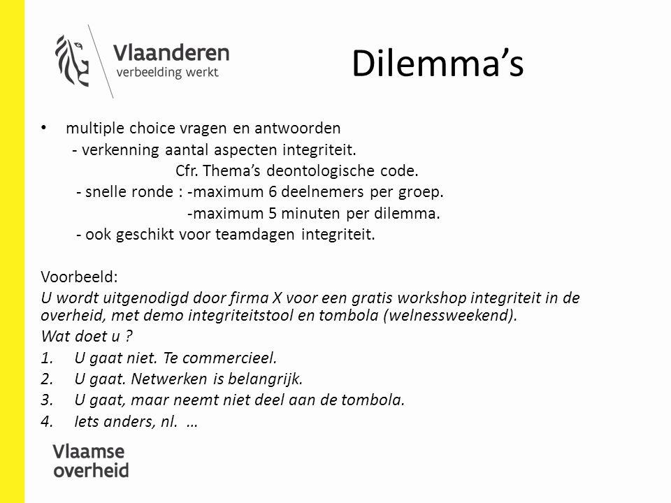 Dilemma's multiple choice vragen en antwoorden