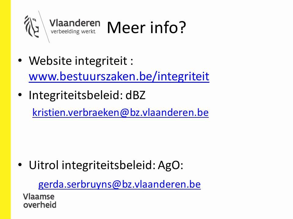 Meer info Website integriteit : www.bestuurszaken.be/integriteit