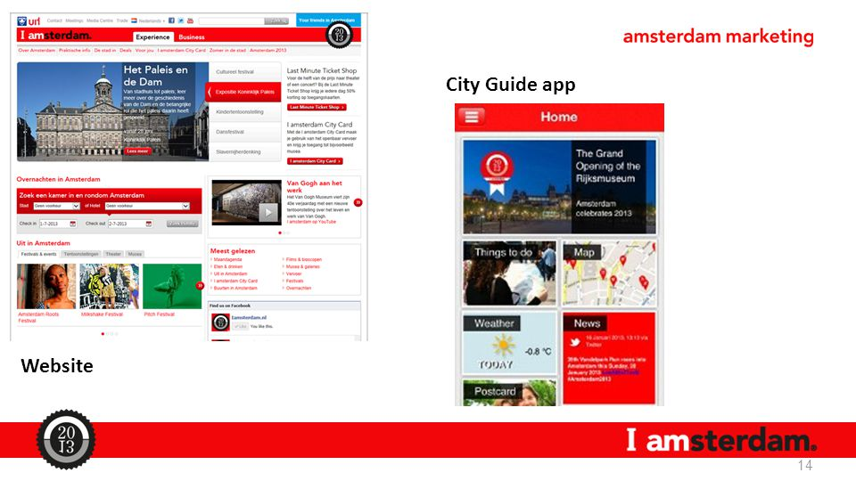 City Guide app Website