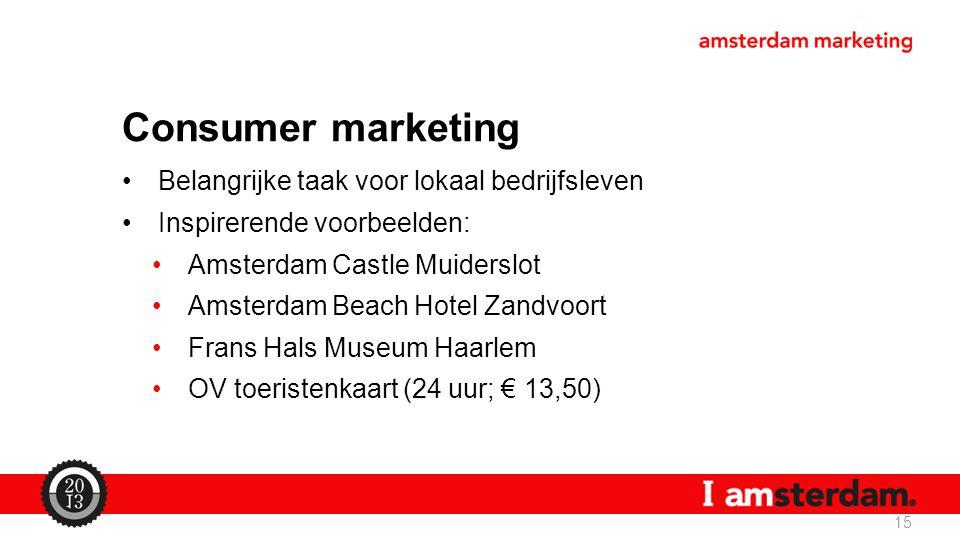 Consumer marketing Belangrijke taak voor lokaal bedrijfsleven