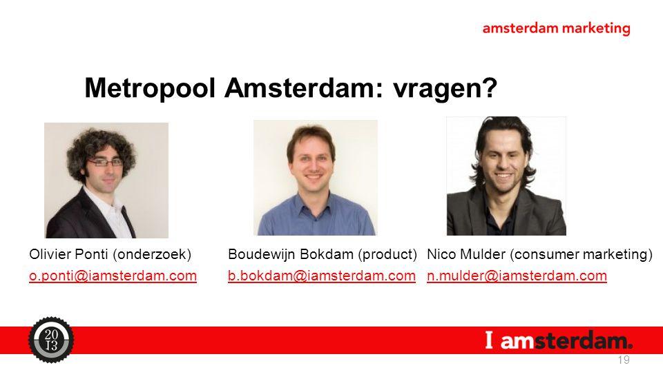 Metropool Amsterdam: vragen