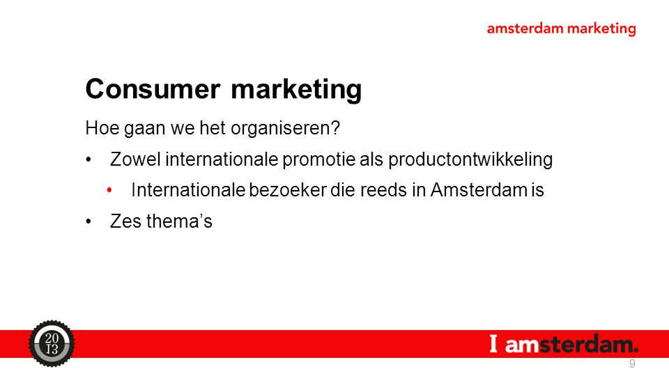 Consumer marketing Hoe gaan we het organiseren
