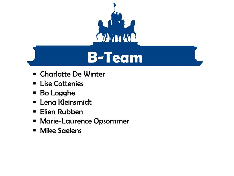 B-Team Charlotte De Winter Lise Cottenies Bo Logghe Lena Kleinsmidt