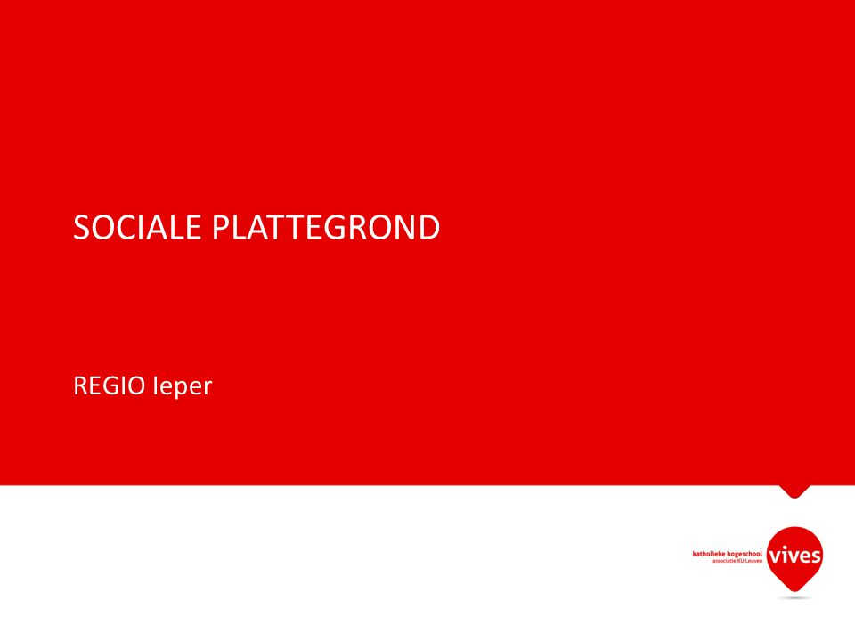 SOCIALE PLATTEGROND REGIO Ieper