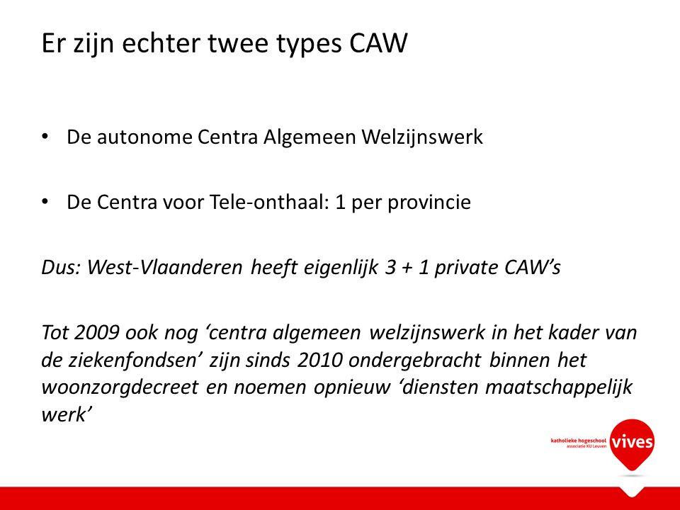 Er zijn echter twee types CAW