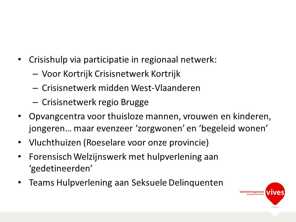 Crisishulp via participatie in regionaal netwerk: