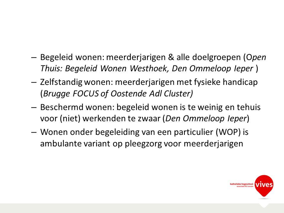 Begeleid wonen: meerderjarigen & alle doelgroepen (Open Thuis: Begeleid Wonen Westhoek, Den Ommeloop Ieper )