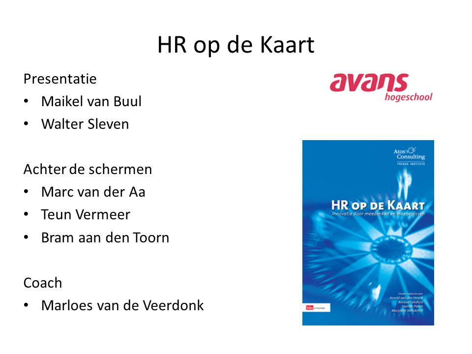 HR op de Kaart Presentatie Maikel van Buul Walter Sleven