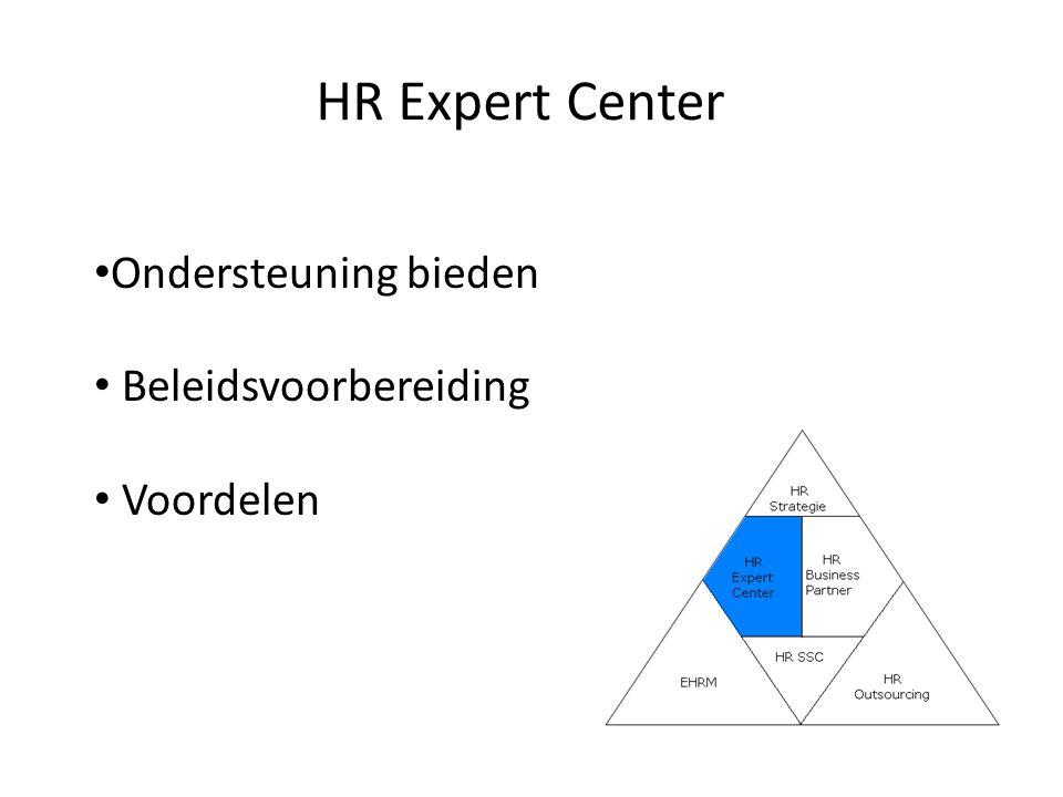 HR Expert Center Ondersteuning bieden Beleidsvoorbereiding Voordelen