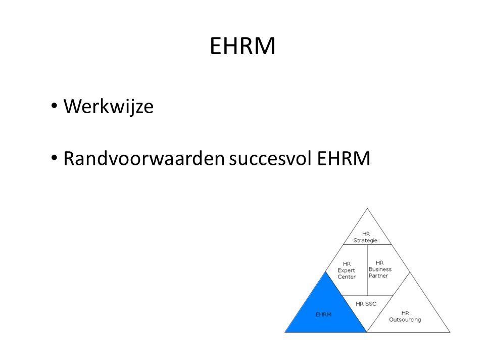 EHRM Werkwijze Randvoorwaarden succesvol EHRM