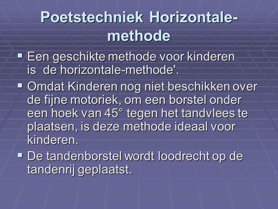 Poetstechniek Horizontale-methode