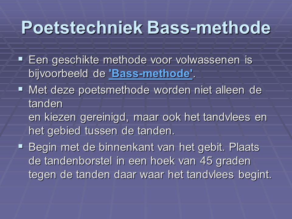 Poetstechniek Bass-methode