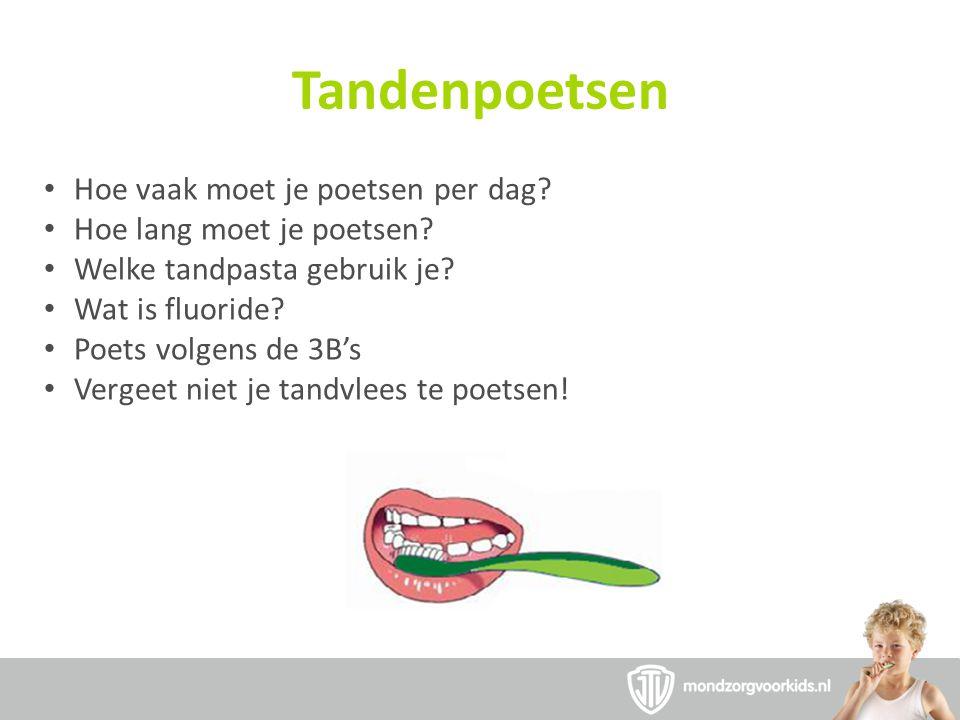Tandenpoetsen Hoe vaak moet je poetsen per dag