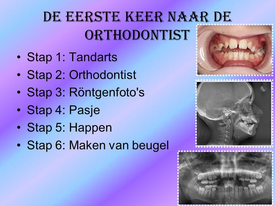 De eerste keer naar de orthodontist