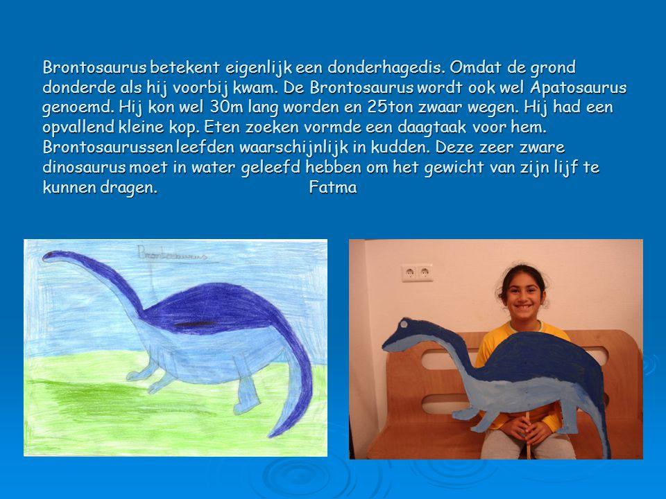 Brontosaurus betekent eigenlijk een donderhagedis