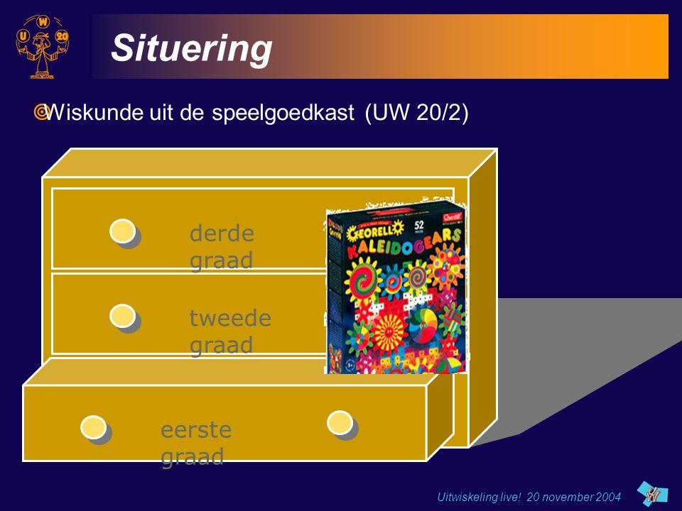 Situering Wiskunde uit de speelgoedkast (UW 20/2) derde graad