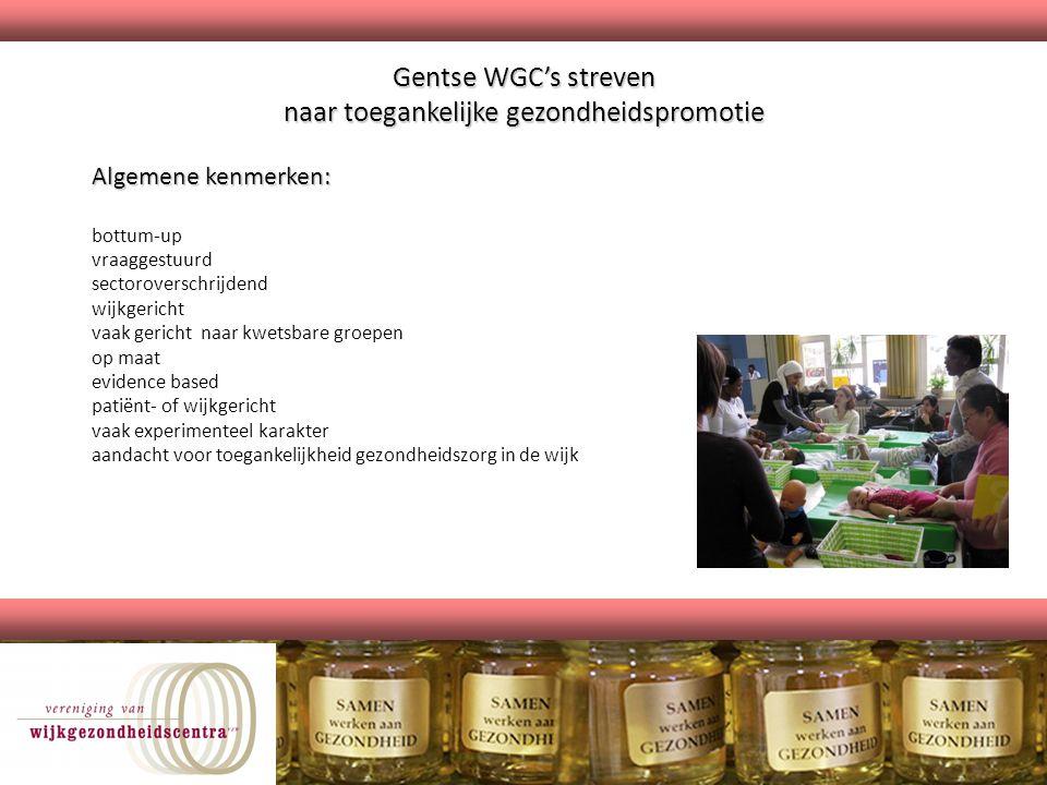 Gentse WGC's streven naar toegankelijke gezondheidspromotie