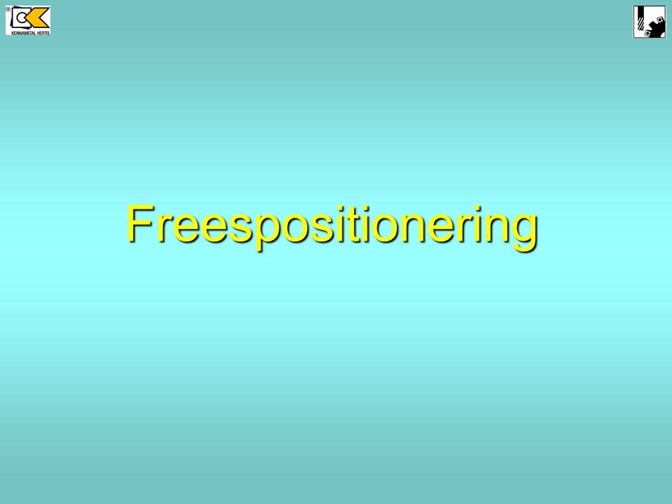 Freespositionering