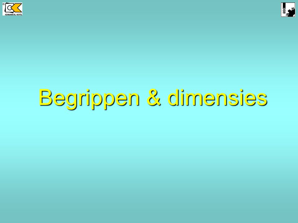 Begrippen & dimensies