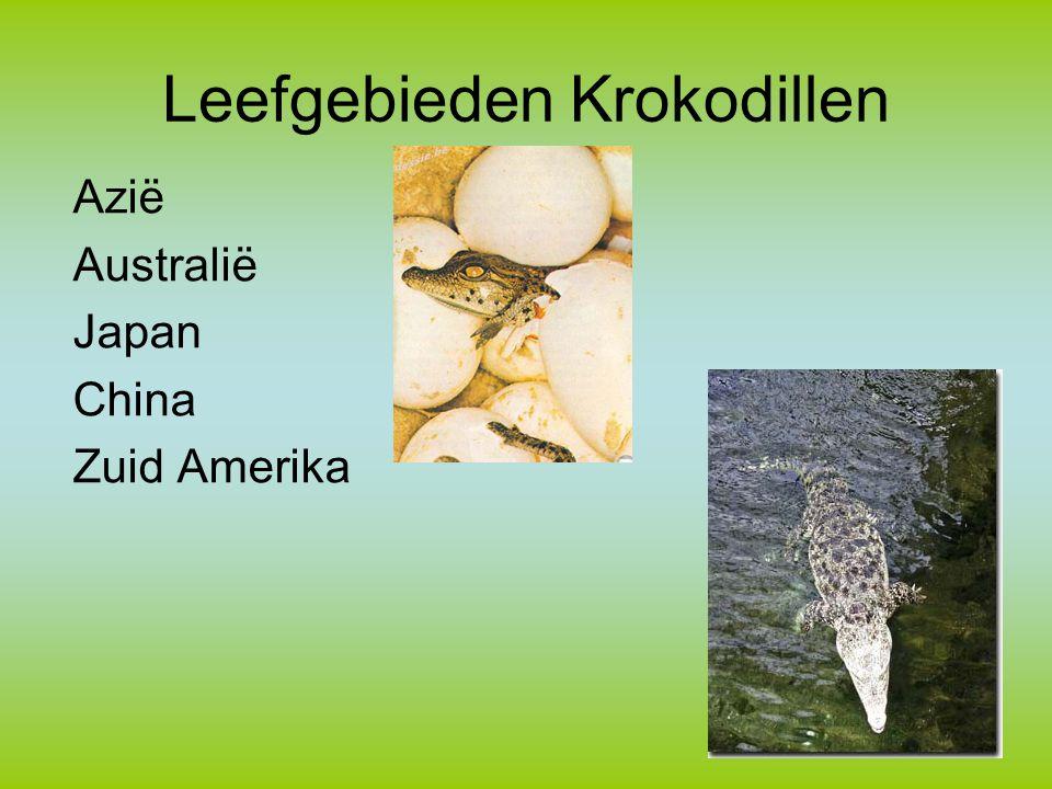 Leefgebieden Krokodillen
