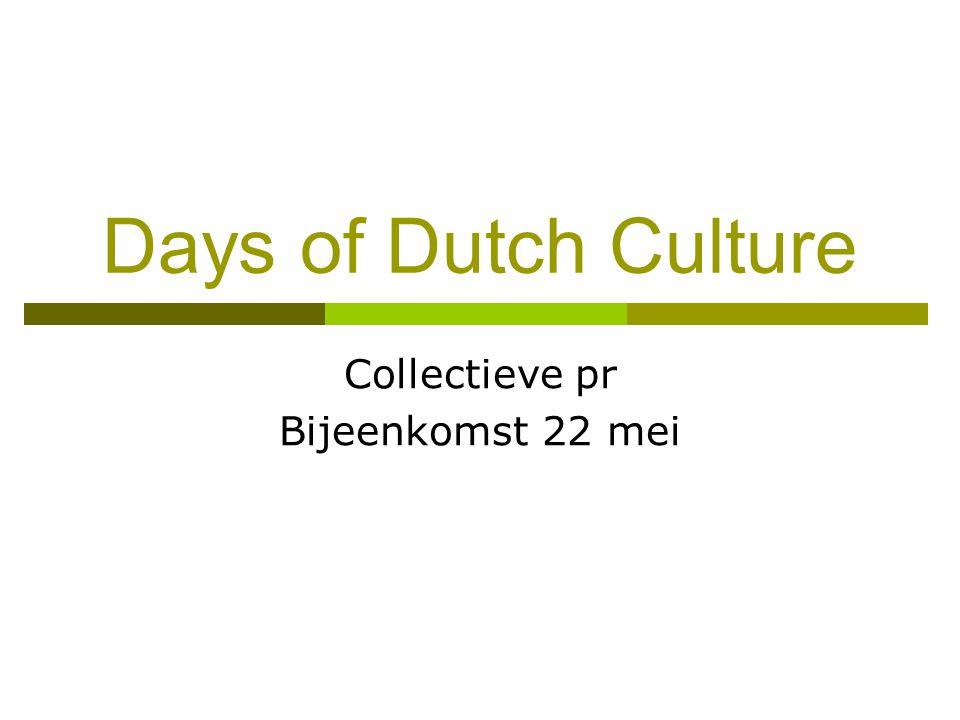 Collectieve pr Bijeenkomst 22 mei