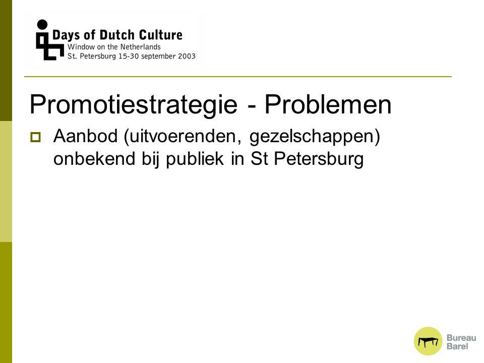 Promotiestrategie - Problemen