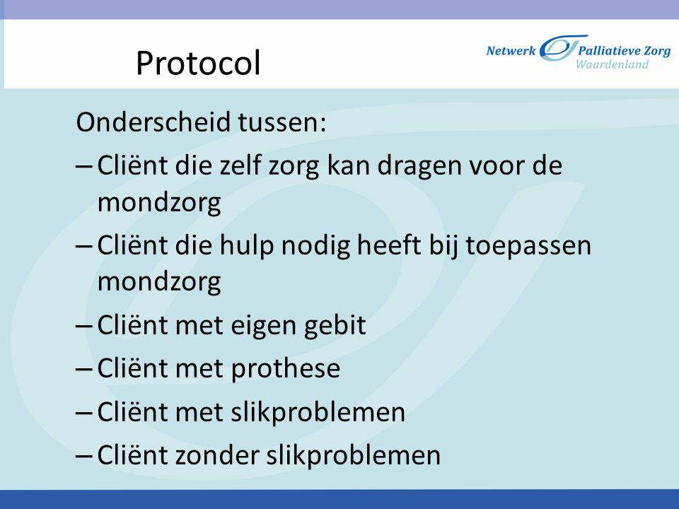 Protocol Onderscheid tussen: