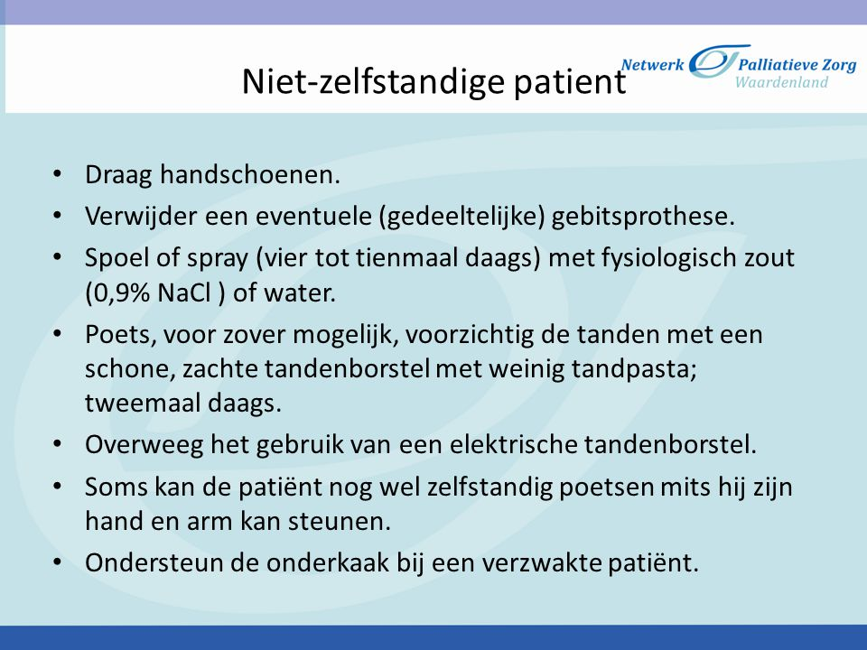 Niet-zelfstandige patient
