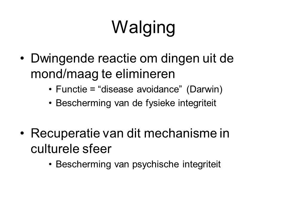 Walging Dwingende reactie om dingen uit de mond/maag te elimineren