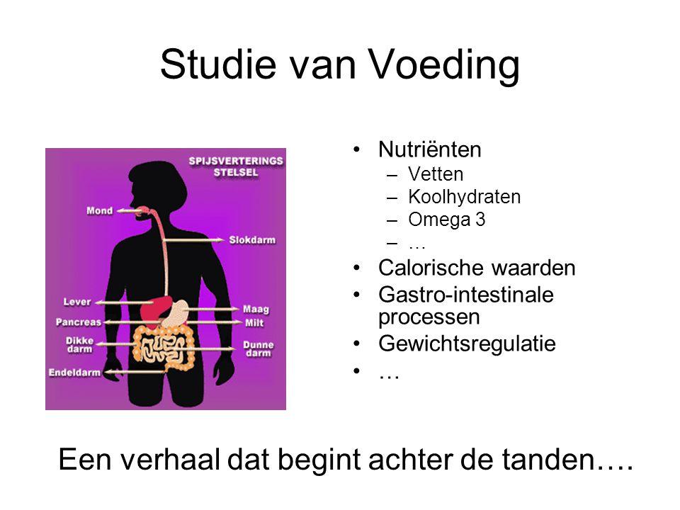 Studie van Voeding Een verhaal dat begint achter de tanden….