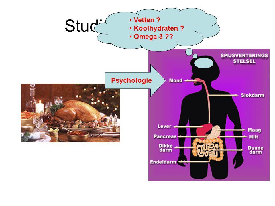 Studie van Voeding Vetten Koolhydraten Omega 3 Psychologie