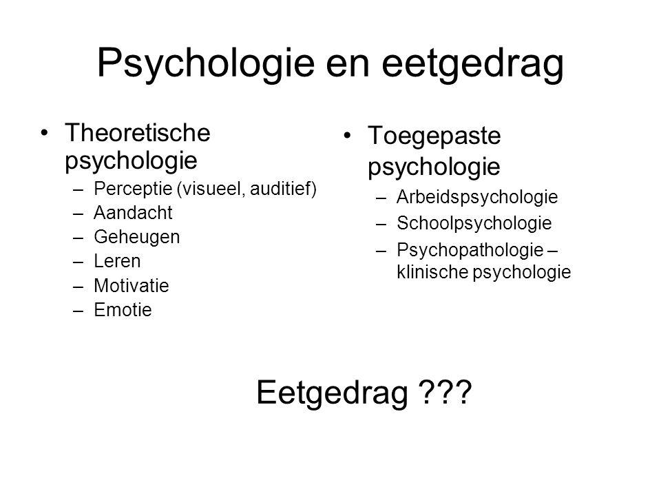 Psychologie en eetgedrag