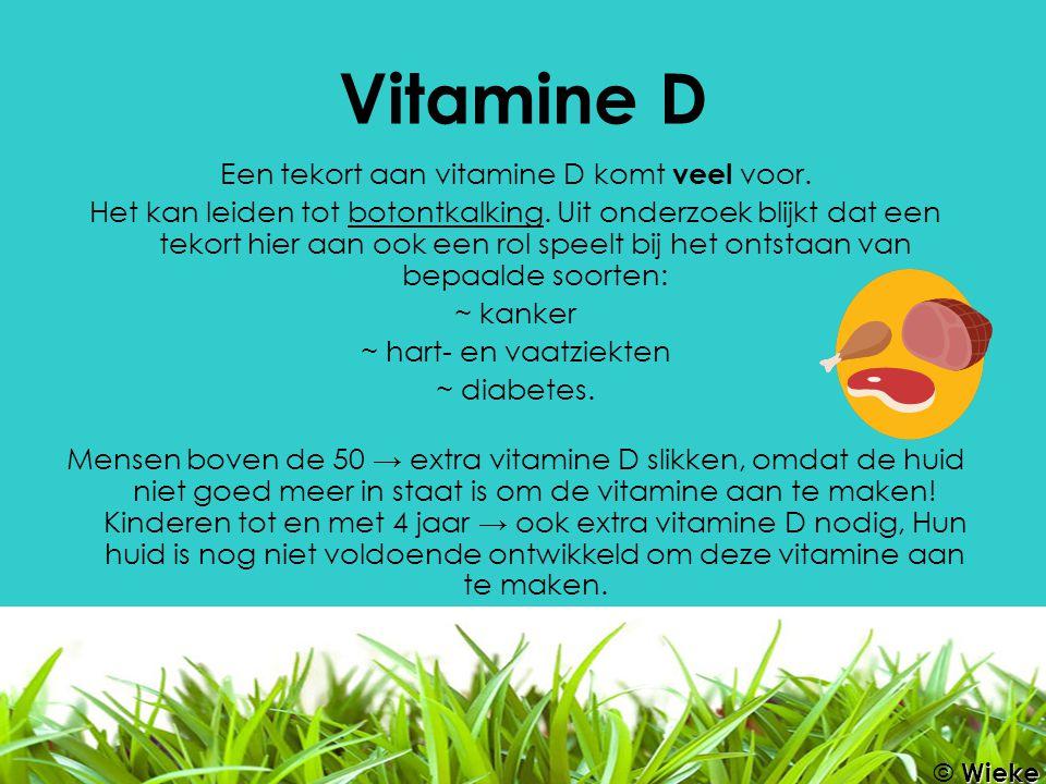 Een tekort aan vitamine D komt veel voor.