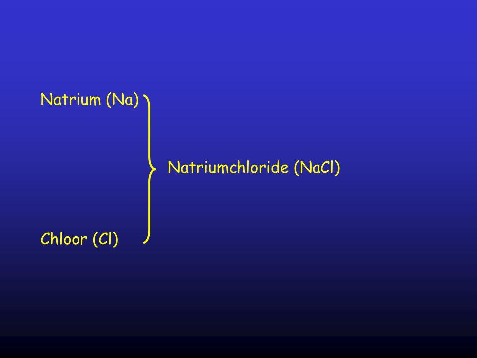 Natrium (Na) Natriumchloride (NaCl) Chloor (Cl)
