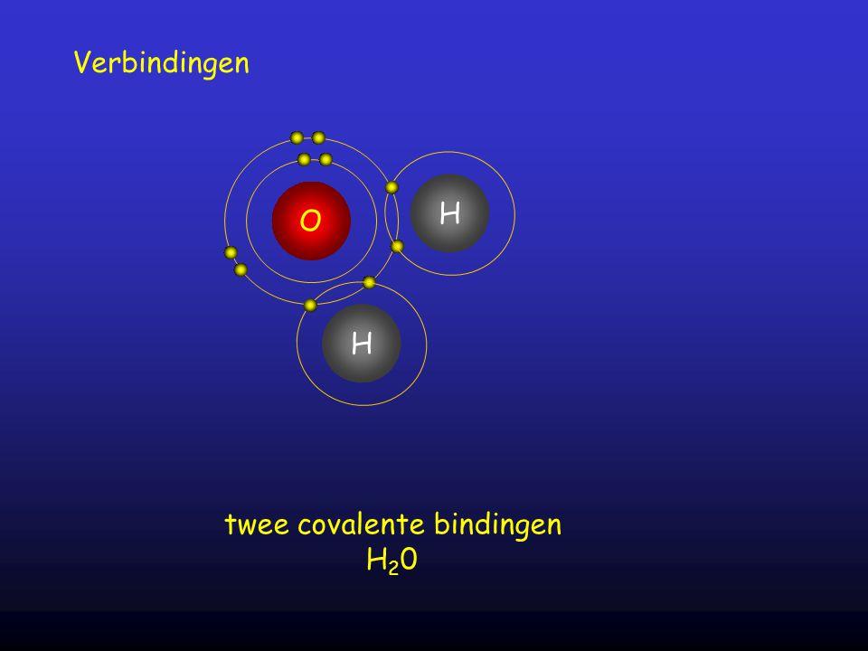 twee covalente bindingen
