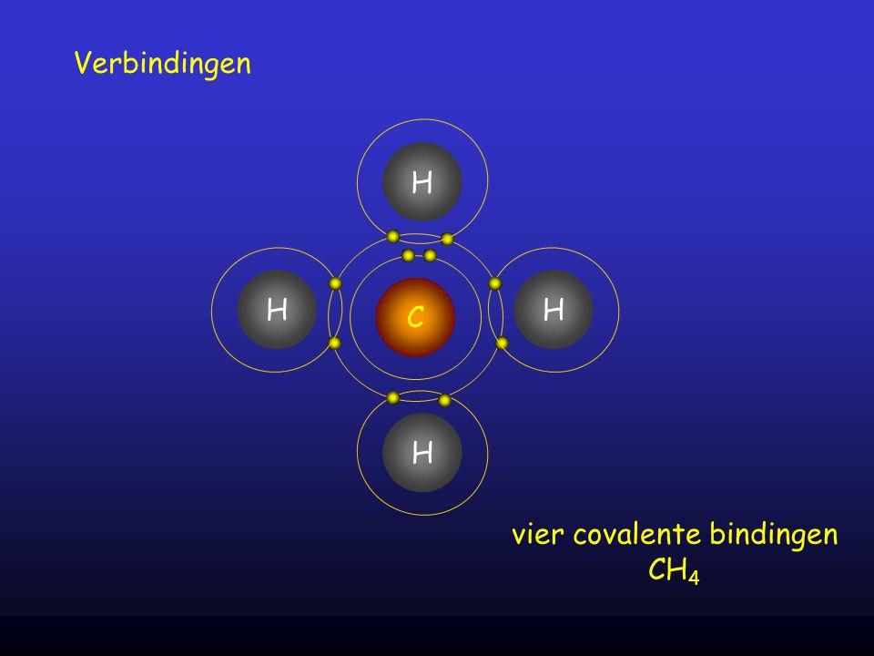 vier covalente bindingen