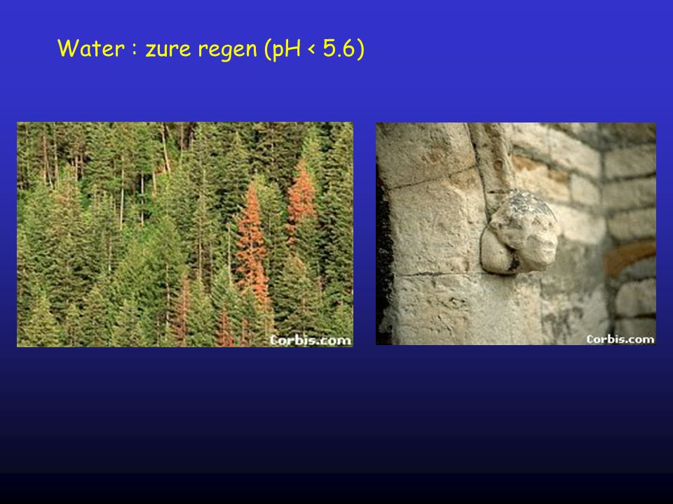Water : zure regen (pH < 5.6)